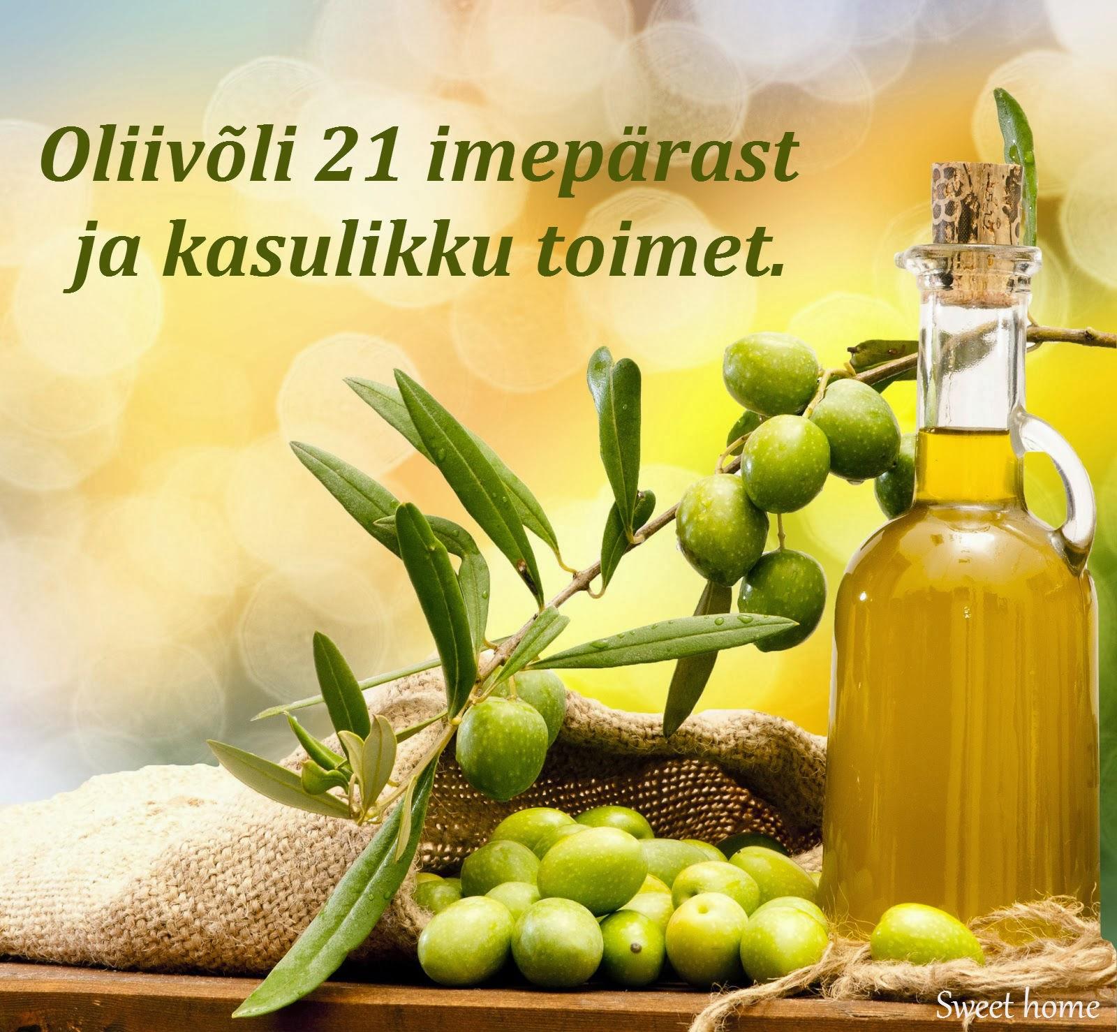 Oliivioli toiduvalmistamise kaalulangus rasva kadu sugelev