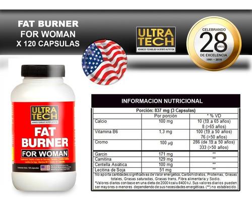 Fat Burner Para Mujer Ultra Tech