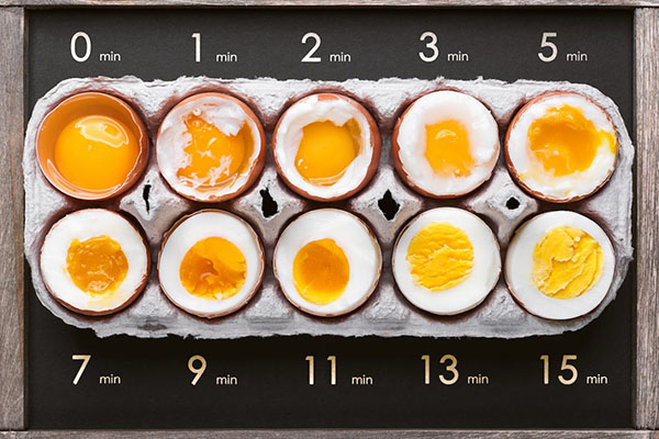 Kaalulangus kova keedetud munadega