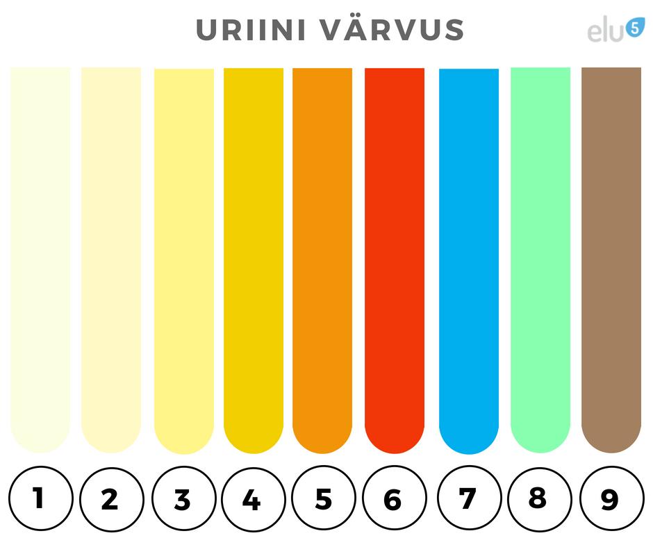 Kaalulangus uriini varv Ma olen kaalukaotuse kinnituste
